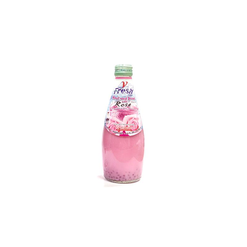 Aani Rose Flavoured Faluda Drink White Basil Seed